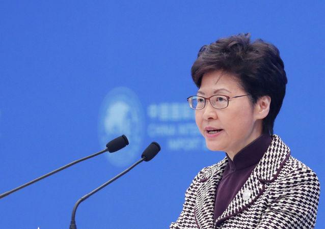 香港特首林郑月娥相信能与新任中联办主任合作无间