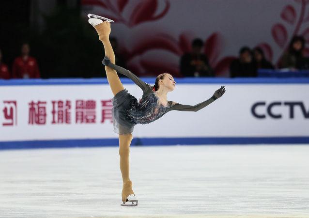 俄罗斯花样滑冰运动员安娜·谢尔巴科娃
