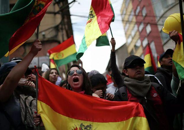 玻利维亚的抗议者