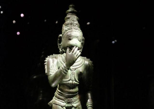 印度六岁男孩被奉为猴神