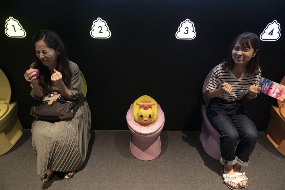 """日本""""大便博物馆""""内的马桶上的访客"""