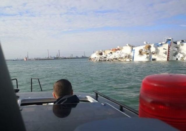 一艘货船载1.4万只绵羊在黑海翻船