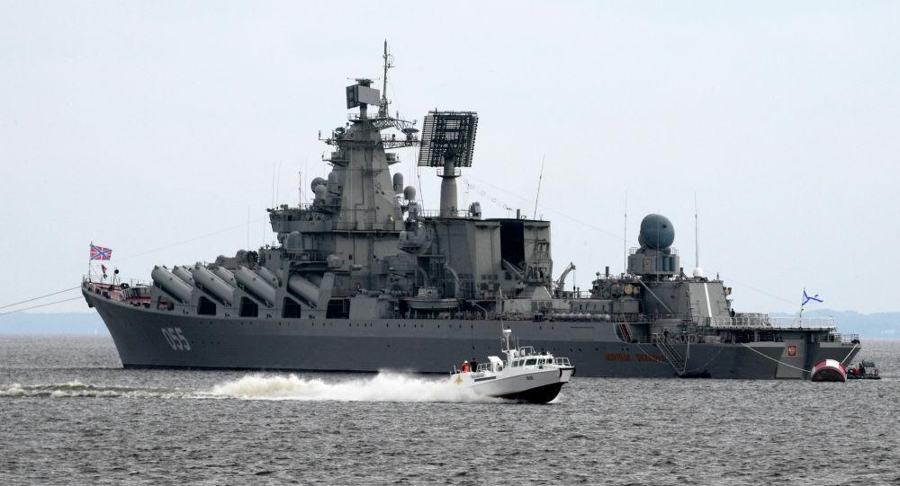 """俄海军""""乌斯季诺夫元帅""""号巡洋舰"""