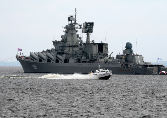 """俄海军""""乌斯季诺夫元帅""""号导弹巡洋舰"""