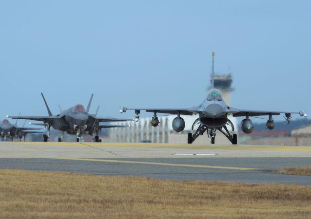 美韩空军曾于去年12月举行简化版联合演习