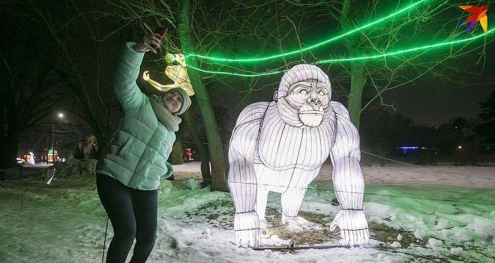 """莫斯科索科尔尼基公园举办""""中国灯节"""""""