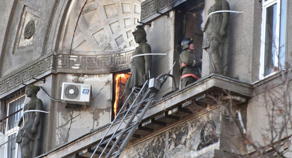 媒体:乌克兰敖德萨火灾遇难者增至2人