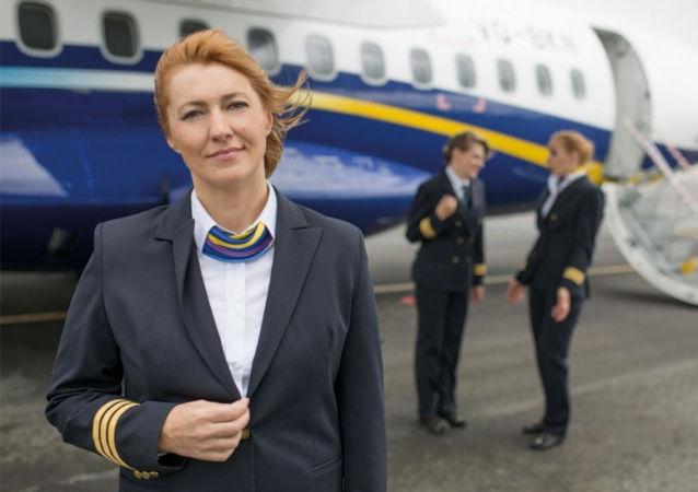 女飞行员伊莉娜·谢尔盖延科
