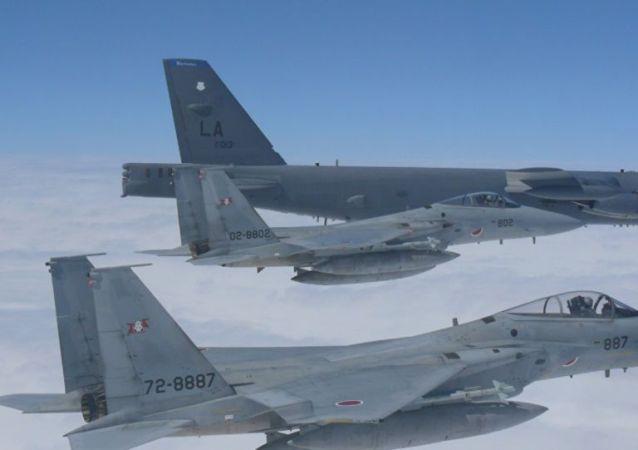 美军B-52首进台飞行情报区
