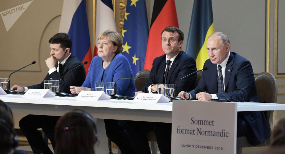 """""""诺曼底模式""""四国领导人"""