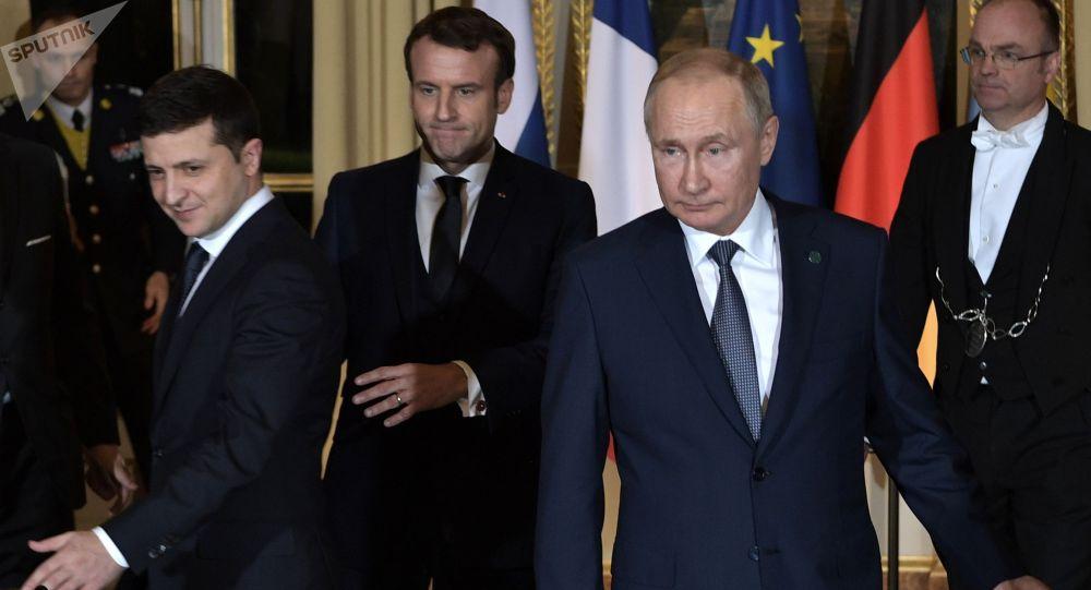 """德国外交部称30日将举行""""诺曼底模式""""部长级视频会议"""