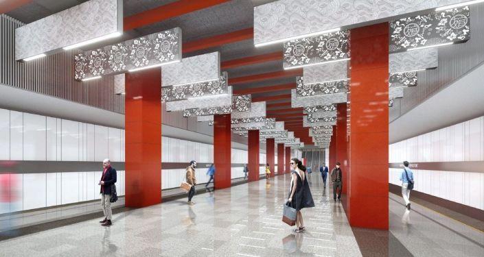 """""""米丘林大街""""地铁站设计方案"""