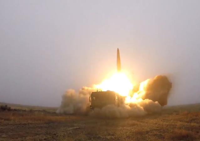 """""""伊斯坎德尔""""弹道导弹发射视频"""