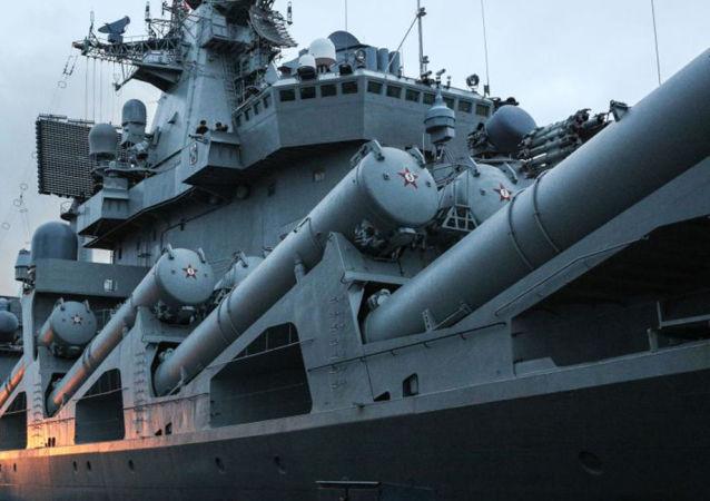 俄军舰在地中海举行防空演习
