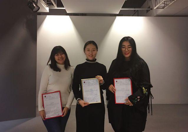 三名获奖同学