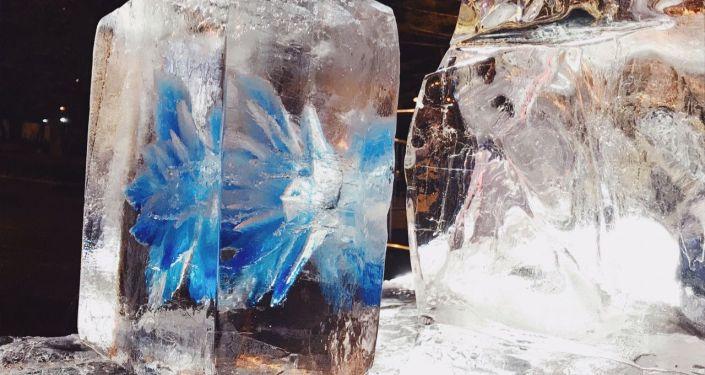 哈尔滨冰雕艺术展在莫斯科开幕
