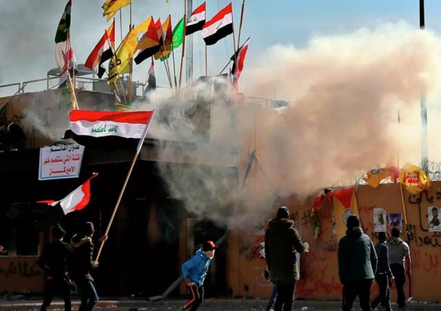 """针对伊拉克局势和""""军国主义声明""""向美国提出抗议"""