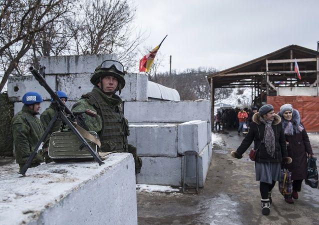 卢甘斯克人民共和国军人