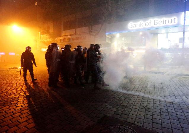 贝鲁特冲突中多名警察受伤