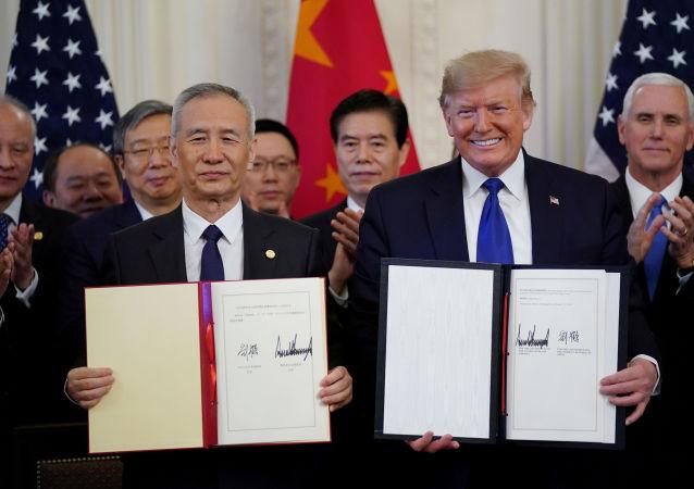美国商会:经贸协议的签署标志着中美贸易关系翻开新篇章