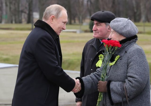 俄总统普京在圣彼得堡