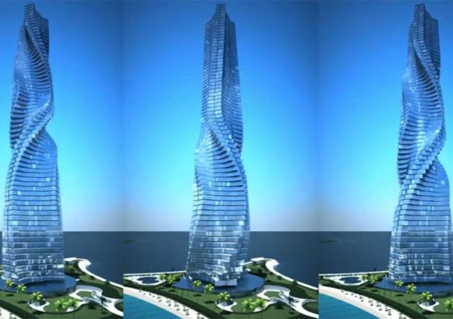 迪拜将建旋转摩天大楼