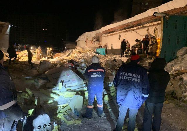 俄紧急情况部门:新西伯利亚咖啡馆坍塌事件造成1人死亡