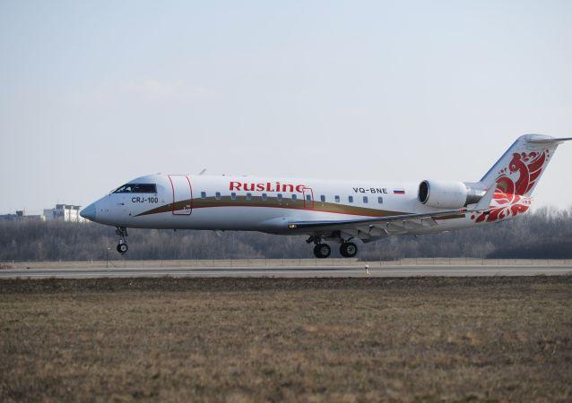 俄罗斯RusLine航空公司的Bombardier CRJ-100飞机