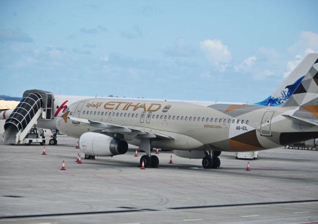 阿提哈德航空的Airbus A320客机