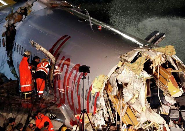 媒体:伊斯坦布尔市客机硬着陆事件致死已达3人