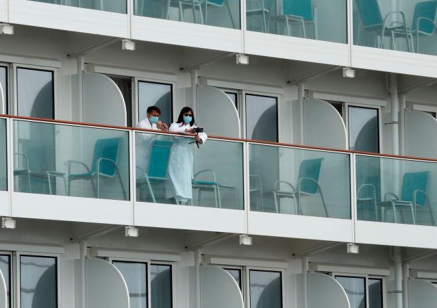 """俄外交官:在香港隔离的""""世界梦""""号号邮轮的船员中有四名俄公民"""