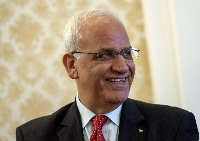 巴勒斯坦解放组织执行委员会秘书长塞布·埃雷卡特