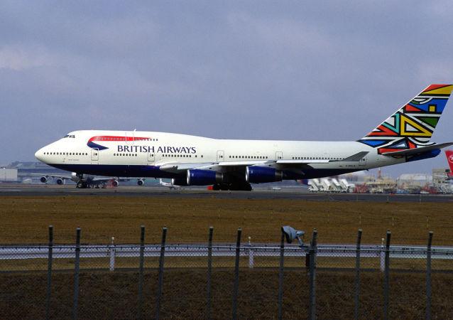 英国航空公司的波音747客机