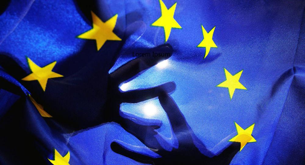 意大利众议院展示摘下欧盟旗帜