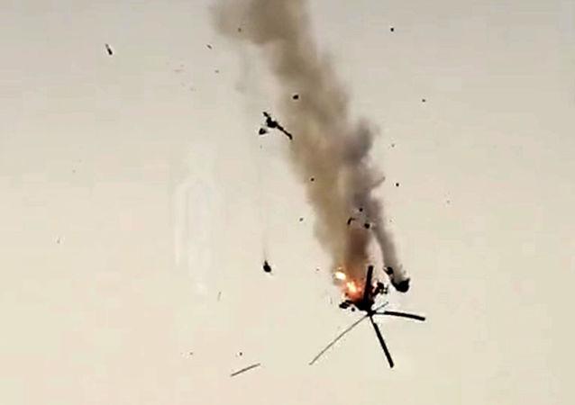 叙利亚武装部队直升机在阿勒颇被击落