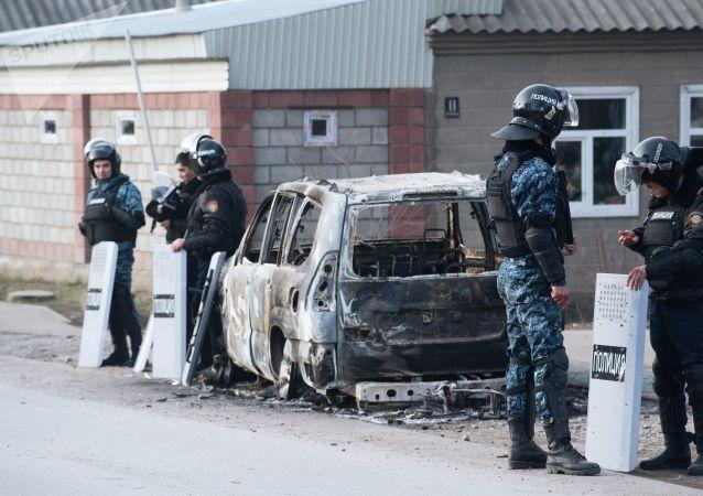 哈萨克斯坦南部大规模骚乱的受伤者人数为185人