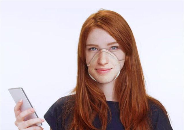 设计师展示了一种不会妨碍Face ID工作的防护口罩