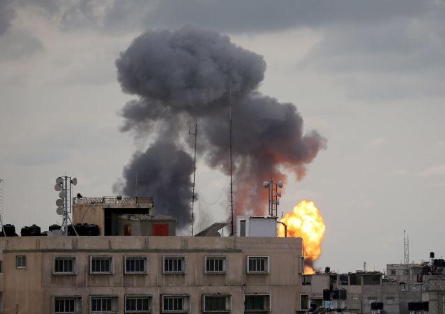 以军对加沙地带实施袭击 (资料图片)