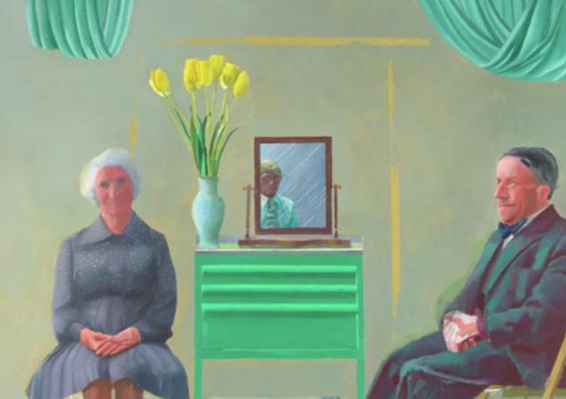 艺术家霍克尼向公众展示导致其与父母争吵的画作