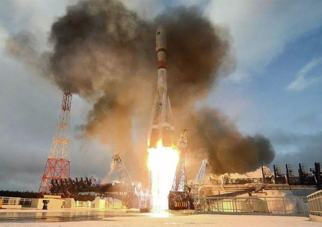 """""""子午线-M""""通信卫星发射"""