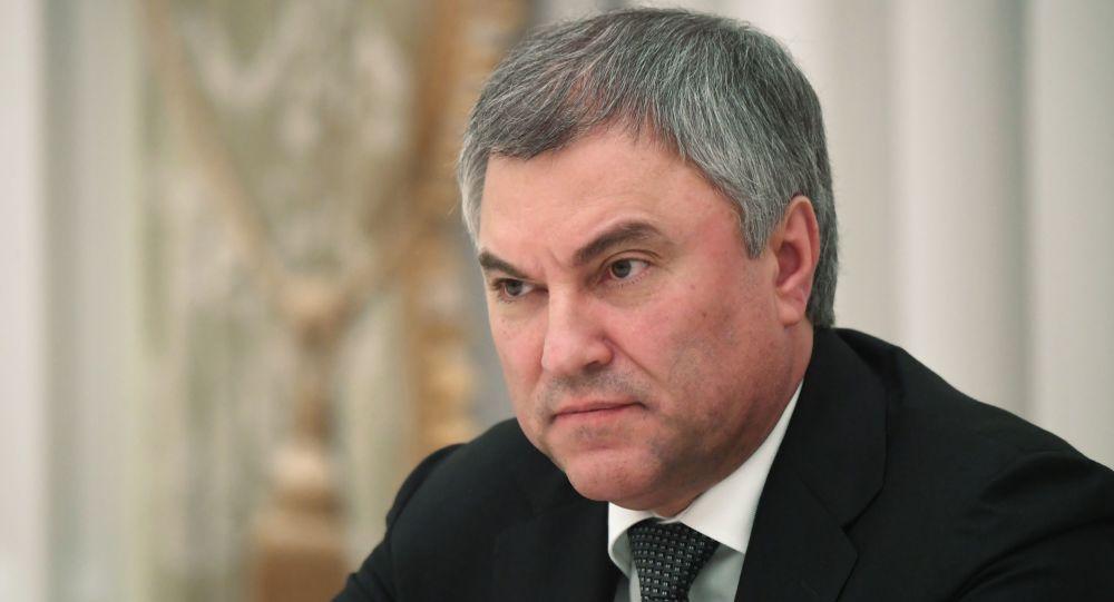 俄国家杜马主席维亚切斯拉夫∙沃洛金