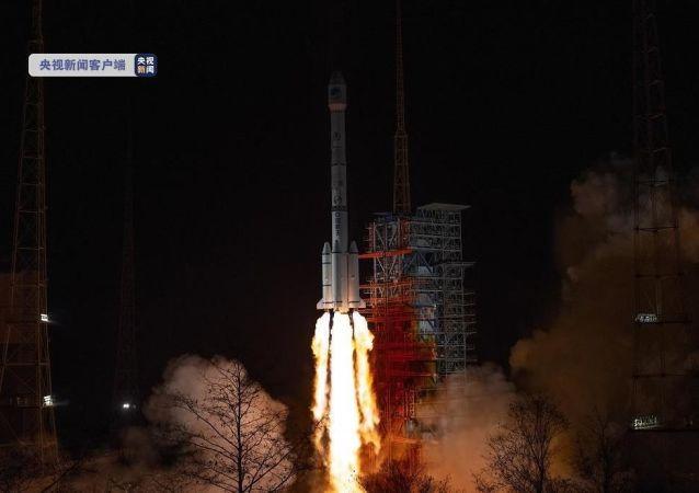 中国在西昌卫星发射中心用长征三号乙运载火箭,成功发射北斗系统第54颗导航卫星