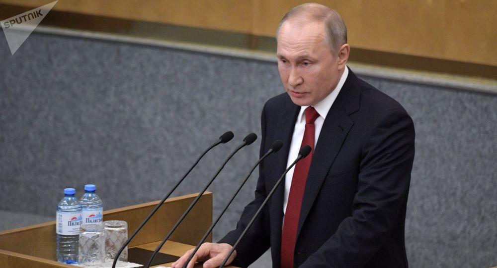 普京称从宪法中去除总统权力期限限制并不合理