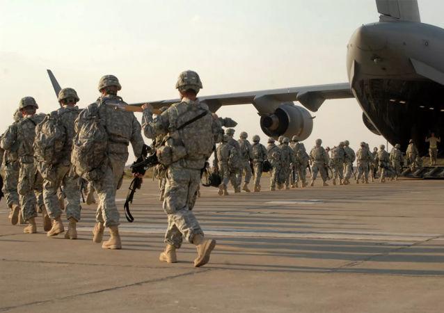 美国军人在伊拉克