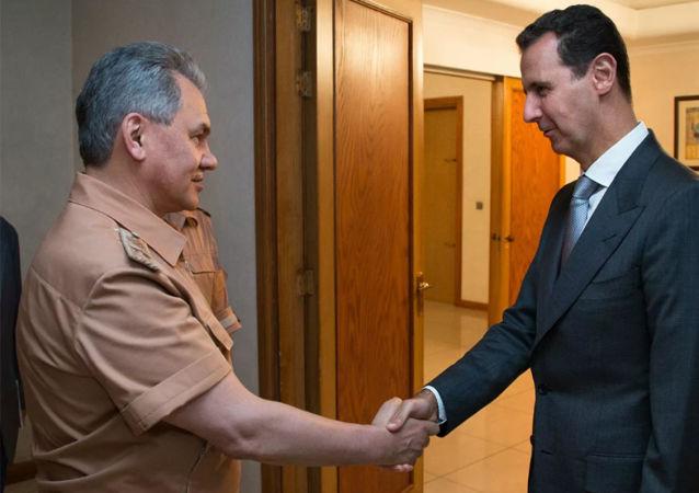绍伊古在叙利亚会见阿萨德