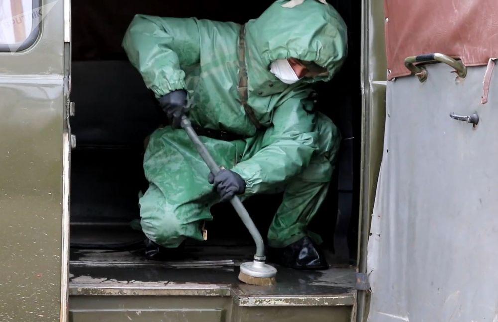 三防部队检查突发病毒传染威胁的准备情况