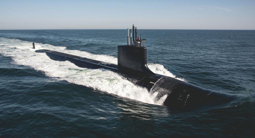 """美国海军第18艘""""弗吉尼亚""""级攻击型潜艇""""特拉华""""号投入使用"""