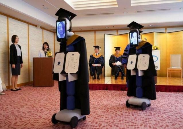 日本大学使用遥控机器人举行虚拟毕业礼