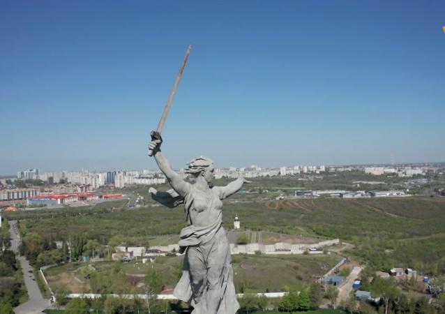 伏尔加格勒祖国母亲纪念碑修复完毕