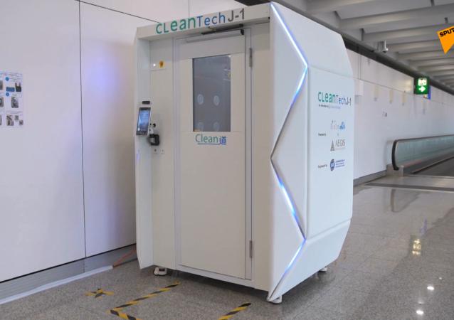 香港机场安装消毒室